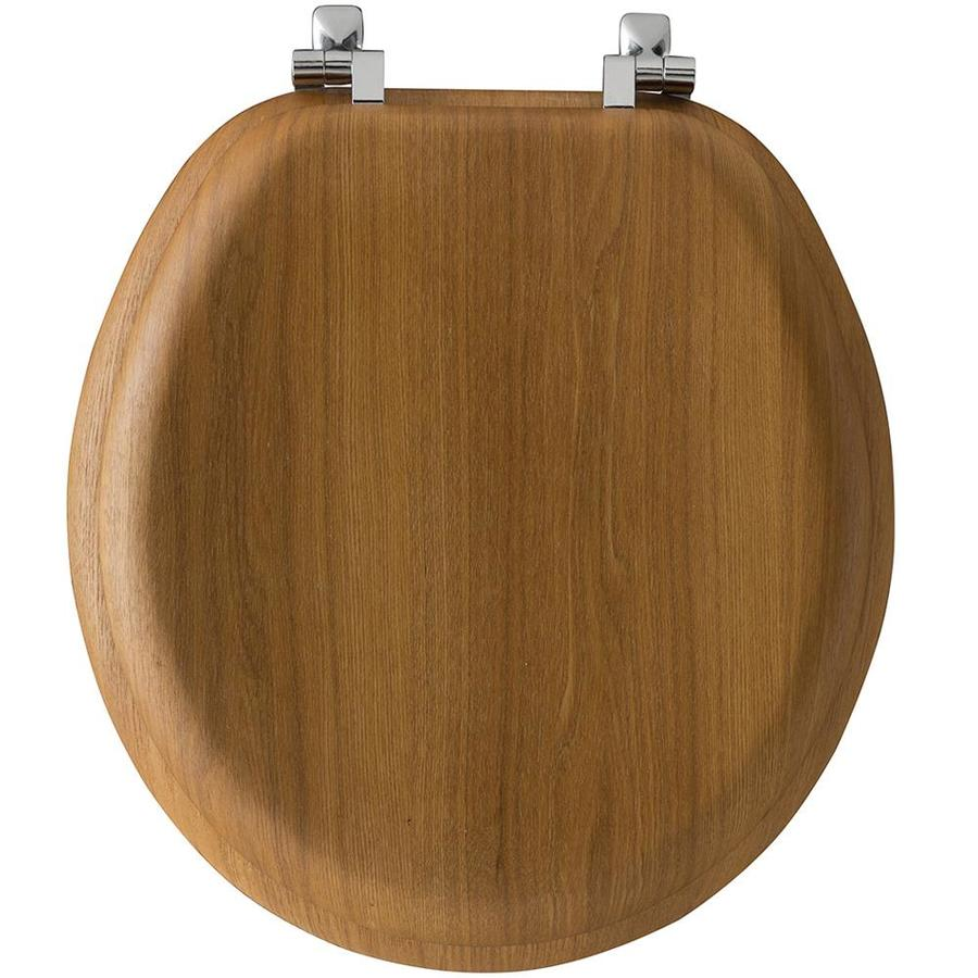 Bemis Natural Reflections Oak Round Toilet Seat 9601Cp 378