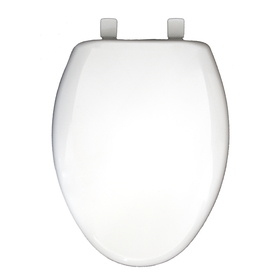 Shop Church White Plastic Elongated Slow Close Toilet Seat