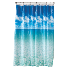 Display Product Reviews For Eva Peva Blue Pictorial Shower Curtain 70 In X 72
