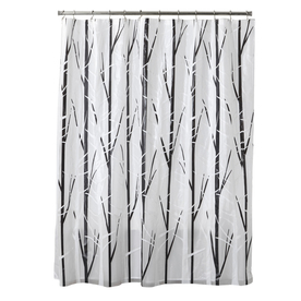 Display Product Reviews For EVA PEVA Black White Patterned Shower Curtain
