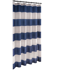 Display Product Reviews For Polyester Navy Stripedd Shower Curtain 70 In X 72