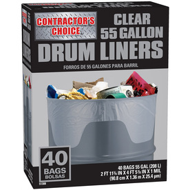 Shop Contractor S Choice 40 Count 55 Gallon Trash Bags At