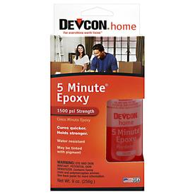 Display Product Reviews For Devcon Home 2 Pack Clear Epoxy Adhesive
