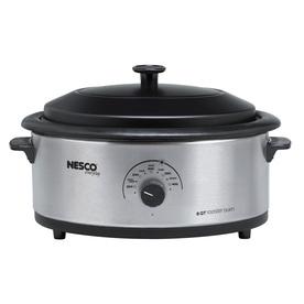 Nesco 6-Quart Stainless Steel Oval Porcelain Roaster Oven...