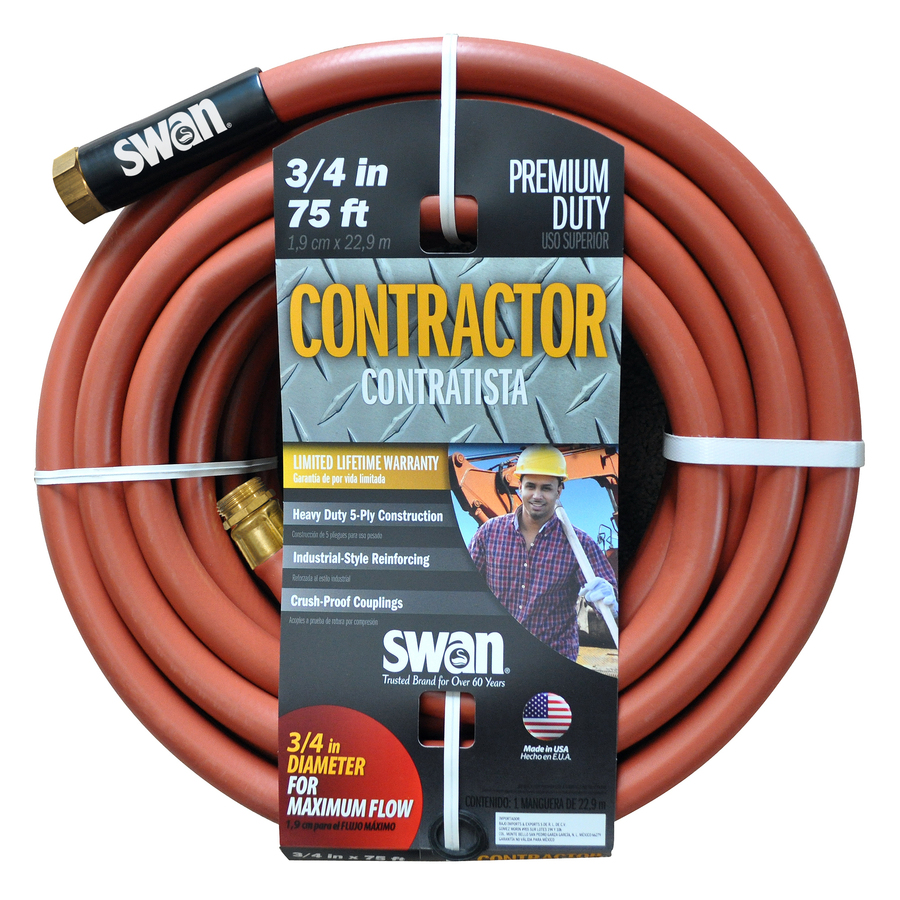 SWAN 3/4 in x 75 ft Contractor Duty Garden Hose