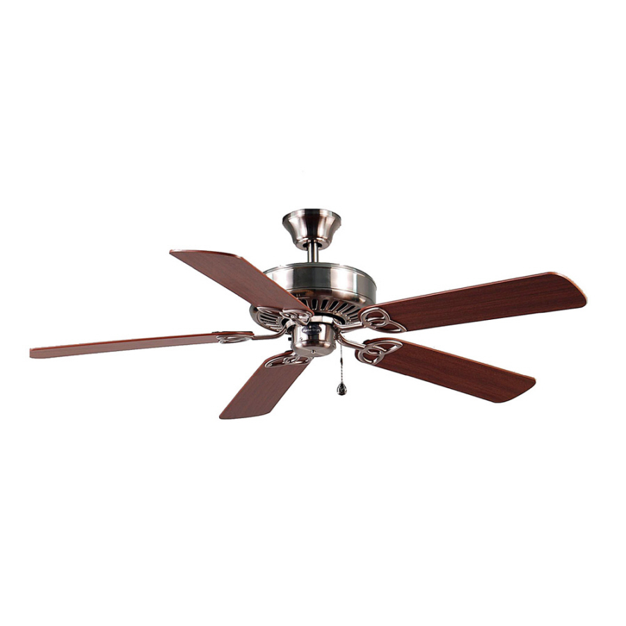 Shop Harbor Breeze 52-in Brushed Nickel Ceiling Fan ENERGY
