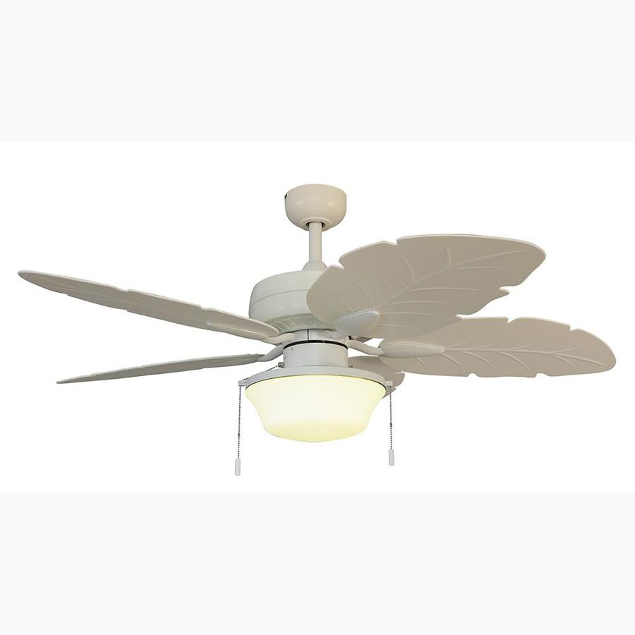 Harbor Breeze Waveport 52 In White Led Indoor Outdoor Ceiling Fan 5 Blade In The Ceiling Fans Department At Lowes Com