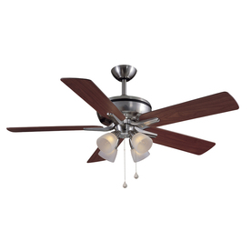 Harbor Breeze 52 In Tiempo Brushed Nickel Ceiling Fan With Light Kit E Tm52bnk5cs