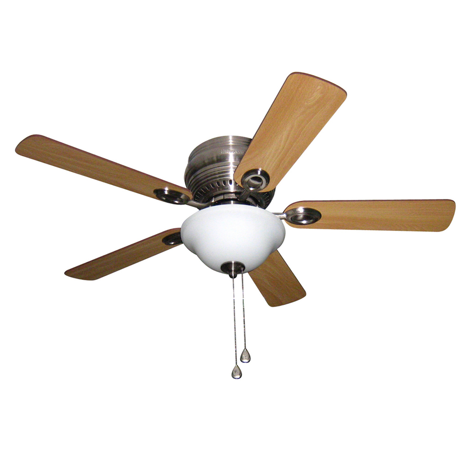 Ceiling Fans Mount: Shop Harbor Breeze Mayfield 44-in Brushed Nickel Flush