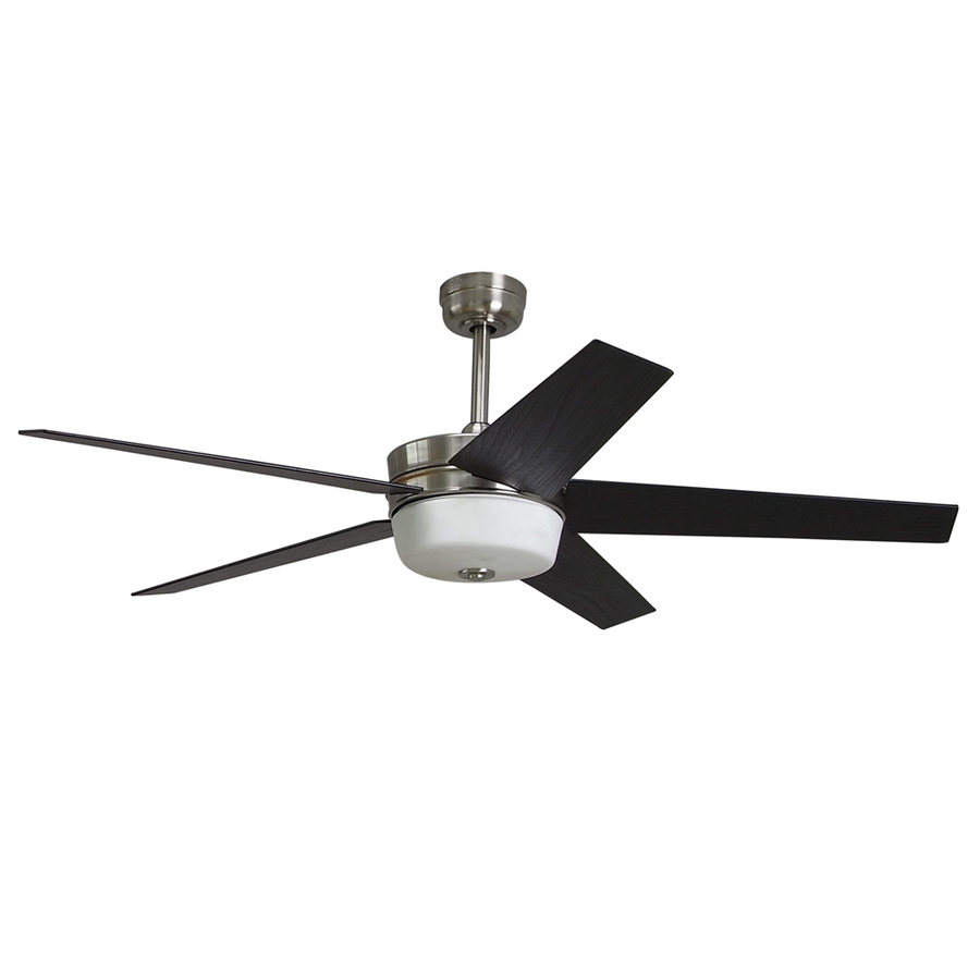 Lowes Ceiling Fans Flush Mount: Shop Harbor Breeze Urbania 54-in Brushed Nickel Downrod Or