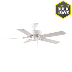 Shop Harbor Breeze Classic 52 In White Downrod Or Close Mount Indoor Ceiling Fan Energy Star At