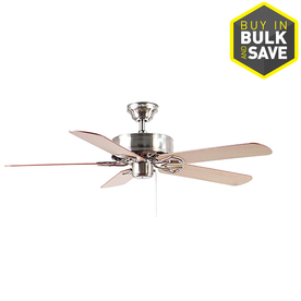 Shop Harbor Breeze Classic 52 In Brushed Nickel Downrod Or Close Mount Indoor Ceiling Fan At