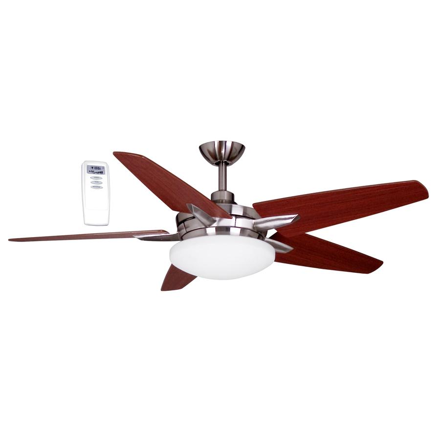 Shop Litex 52-in Brushed Nickel Downrod Mount Ceiling Fan
