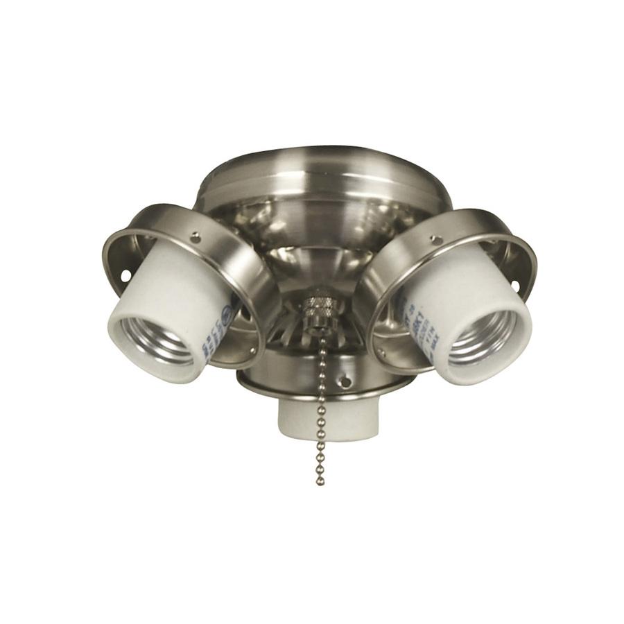 Shop Harbor Breeze 4-Light Brushed Chrome Ceiling Fan