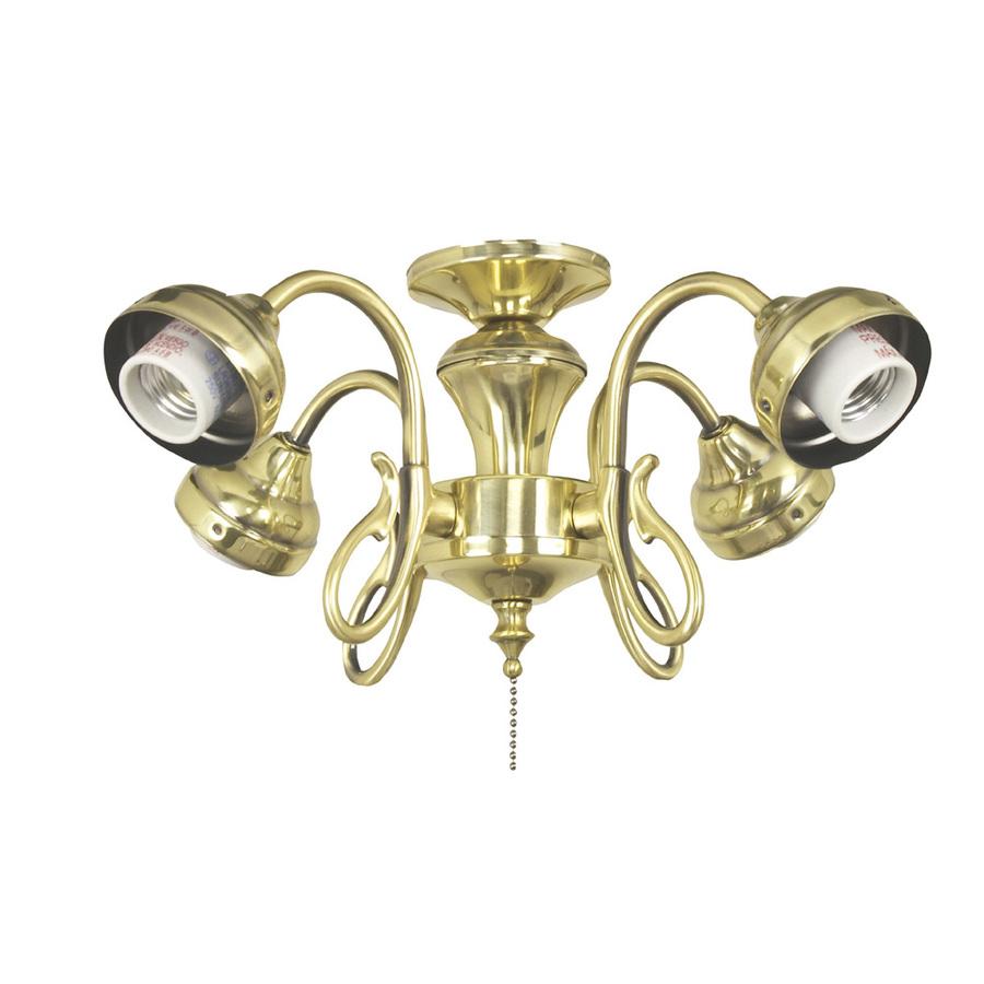 Shop Harbor Breeze 4 Light Burnished Brass Ceiling Fan