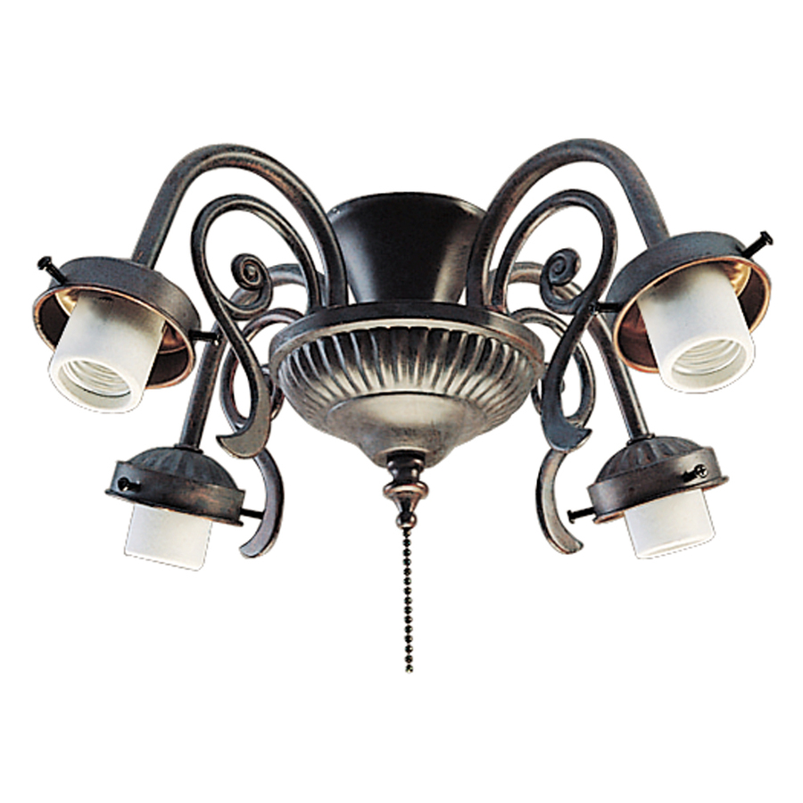 Shop Harbor Breeze 4 Light Copperstone Ceiling Fan Light Kit With Shade Not Included Glass Or