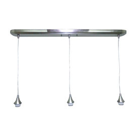 Shop pendant lighting at lowes display product reviews for 36 in polished nickel mini pendant aloadofball Image collections