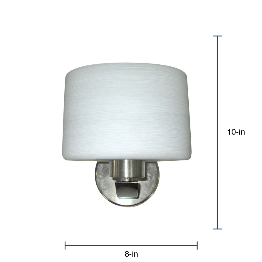 Portfolio Merington 8 In W 1 Light Brushed Nickel Transitional Wall Sconce In The Wall Sconces Department At Lowes Com
