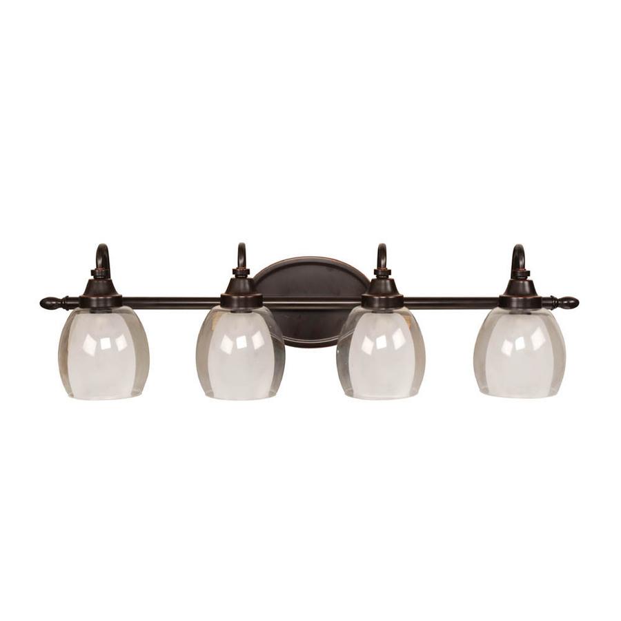 premium selection 37eaa e67ff allen + roth 4 Light Bronze Bathroom Vanity Light on PopScreen