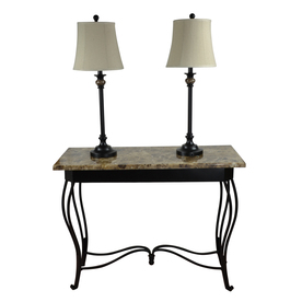 Portfolio Barada 3-Piece Lamp Set With Bronze Shades Lst04mt