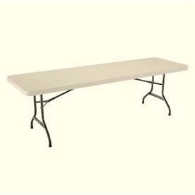 Display Product Reviews For 96 In X 30 In Rectangle Steel Almond Folding  Table