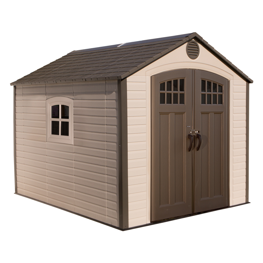 8-ft x 10-ft Gable Storage Shed in Brown   - LIFETIME PRODUCTS 60117
