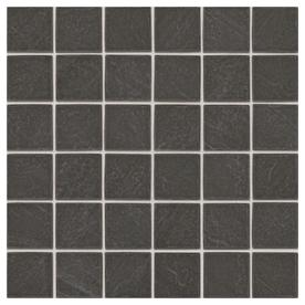 American Olean Carbon Mist Slate Uniform Squares Mosaic Ceramic Floor And Wall Tile (Common: 12-in x 12-in; Actual: 12-in x 12-in)