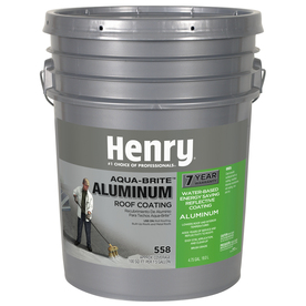 HENRY HE558178 Aluminum Roof Coating, Silver, Matte,5 gal.