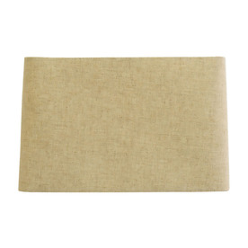 allen roth 10in x 16in tan linen fabric rectangular lamp shade