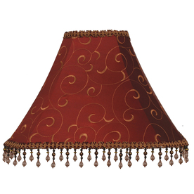 Shop Allen Roth 12 In X 16 In Red Fabric Bell Lamp Shade