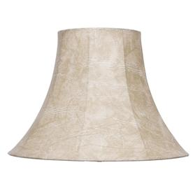 Shop lamp shades at lowes display product reviews for 125 in x 17 in natural fabric bell lamp shade aloadofball Image collections