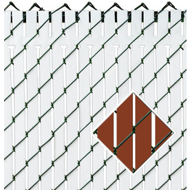 Pexco Red Chain-Link Fence Privacy Screen Pvt-R/W-5