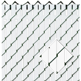 Pexco Top Locking Slats 82 White Chain-Link Fence Privacy...
