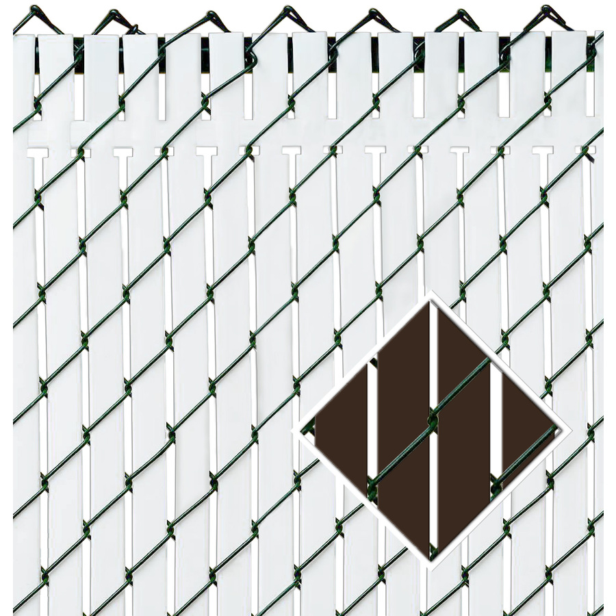 Shop Pexco 6 In X 7 Ft 10 In Brown Chain Link Fence