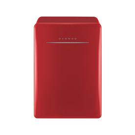 Retro 2.8-cu ft Freestanding Compact Refrigerator Freezer Compartment (Pure Red) - Daewoo FR-028RCNR
