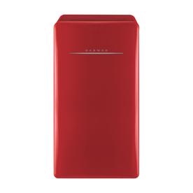Retro 4.4-cu ft Freestanding Compact Refrigerator Freezer Compartment (Pure Red) - Daewoo FR-044RCNR