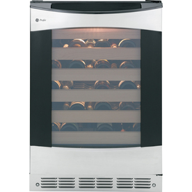 GE Profile 57-Bottle Stainless Steel With Black Case Wine...
