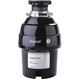 GE 3/4-Hp Continuous Feed Noise Insulated Garbage Disposa...