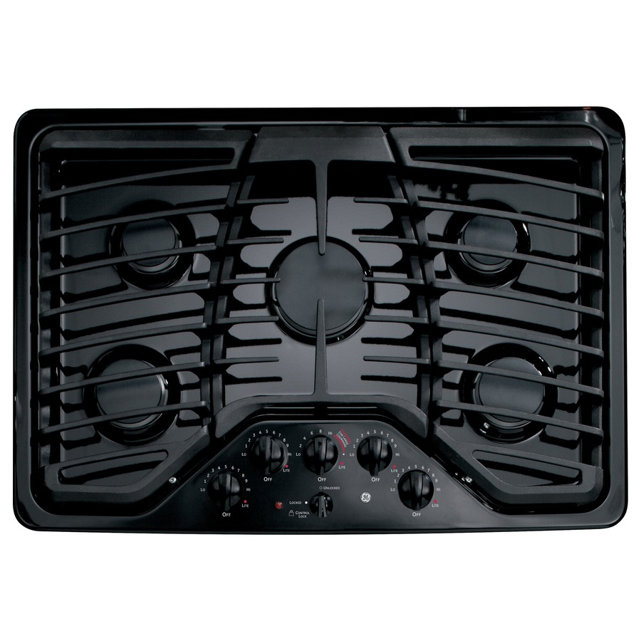 5 Burner Gas Cooktops: Shop GE Profile 5-Burner Gas Cooktop (Black) (Common: 30