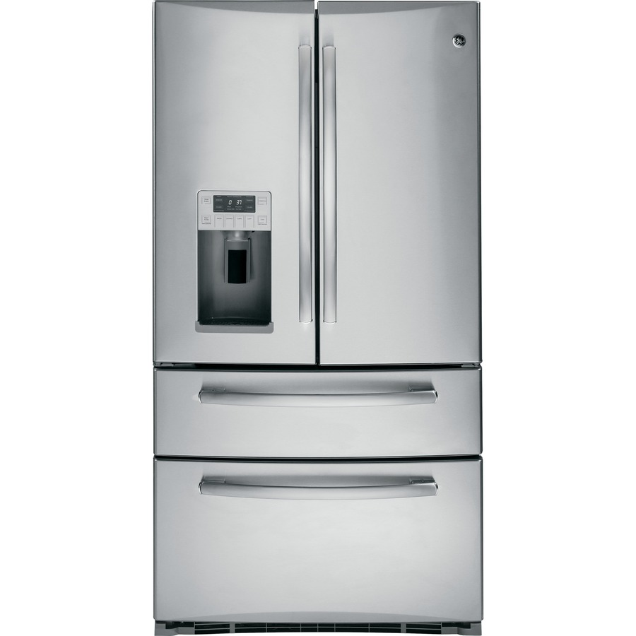 Shop Ge Profile 20 7 Cu Ft French Door Refrigerator With