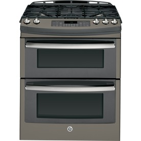 GE Profile 30-In 5-Burner 4.3-Cu Ft / 2.5-Cu Ft Self-Clea...