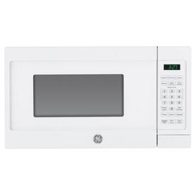 GE 0.7-cu ft 700-Watt Countertop Microwave (White) JEM3072DHWW