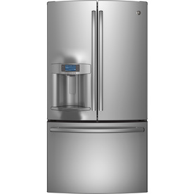 Shop Ge Profile 27 7 Cu Ft French Door Refrigerator With