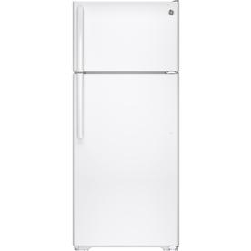 Ge 17.5-Cu Ft Top-Freezer Refrigerator White Energy Star Gte18lghww