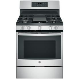 GE 5-Burner Freestanding 5-Cu Ft Self-Cleaning Convection...