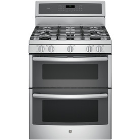 GE Profile 30-In 5-Burner 4.3-Cu Ft/2.5-Cu Ft Double Oven...