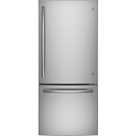 GE 20.9-Cu Ft Bottom-Freezer Refrigerator With Ice Maker ...