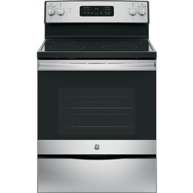 GE Smooth Surface 5.3-cu ft Self-Cleaning Freestanding Electric Range Stainless Steel  30-in JB645RKSS