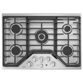 GE Cafe 30-in 5-Burner Stainless Steel Gas Cooktop  30-in CGP9530SLSS