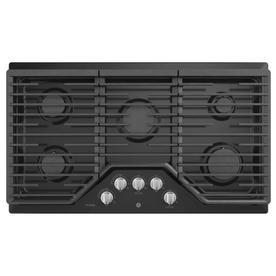 GE Profile 36-in 5-Burner Black Gas Cooktop  36-in PGP7036DLBB